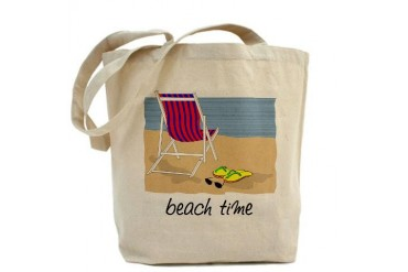 Beach Time Beach Tote Bag by CafePress
