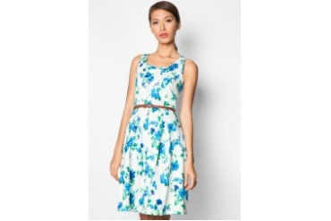 EZRA by ZALORA Stretch Midi Tea Dress