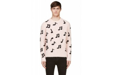 Paul Smith Pink Music Note Plush Sweater