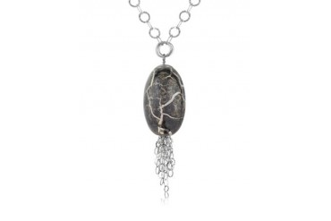 Alchimia - Sterling Silver Oval Pendant Necklace