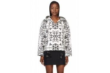 Alexander Wang Ivory Insect And Floral Print Pullover