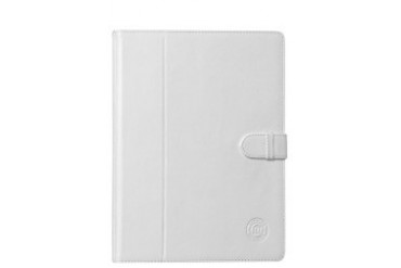 Leather folio case for iPad - Smooth white