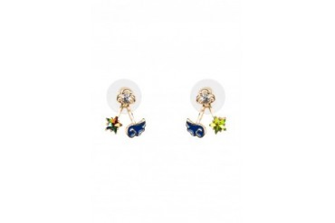 Saturation Star and Cloud Earrings