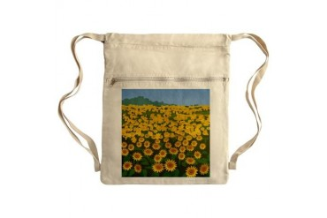 Field Of Sunflower Sack Pack Art Cinch Sack by CafePress
