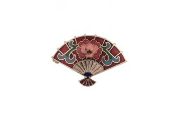 eslystyle.com Handpainted Fan Brooch
