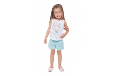 Toddler Girl Graphic Tank Top amp Shorts 2pc Outfit Summer Set 1-3Y