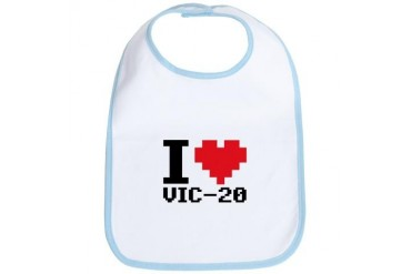 I Heart VIC-20 Retro Bib by CafePress