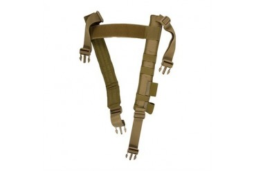 12 Ga Micro Rig & H-Harness - Slim Padded H-Harness Coyote