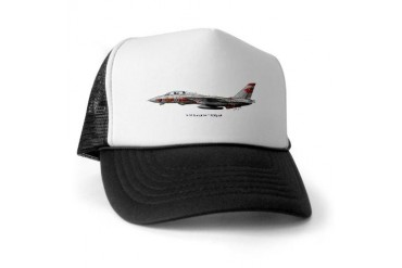 F-14 Tomcat VF-1 Wolfpack Military Trucker Hat by CafePress
