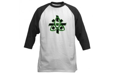 Celtic Cross Green Funny Baseball Jersey by CafePress