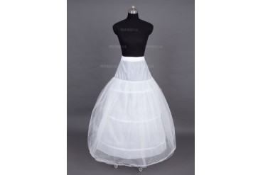 Women Nylon/Tulle Netting Floor-length 3 Tiers Petticoats (037023562)