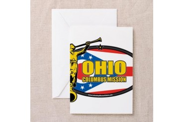 Ohio Columbus LDS Mission Clothing T-Shirts and Gi Gifts Greeting Card by CafePress
