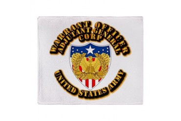 Army - WO - AG Corps Stadium Blanket Army Throw Blanket by CafePress