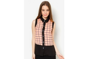 Another Sleeveless Checkered Top