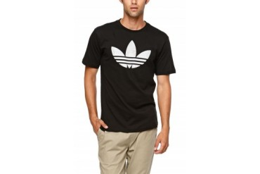 Mens Adidas T-Shirts - Adidas Museum Pop Logo Fill T-Shirt
