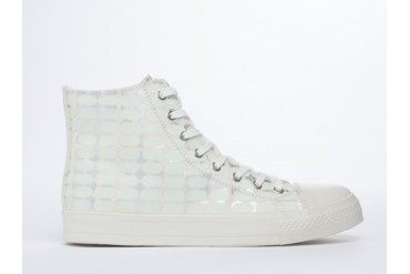 Starstyling Berlin Camou High Top Mens in White Glow Silver size 11.0