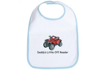 Daddy's Little Off Roader Baby New baby Bib by CafePress