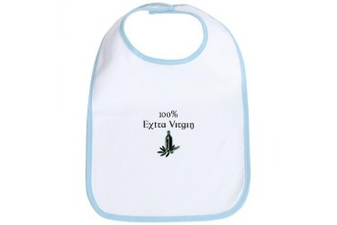 100 Extra Virgin Humor Bib by CafePress