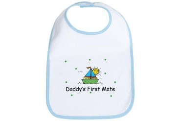 Daddy's First Mate Baby Kids Bib by CafePress