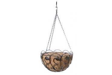 PANACEA PRODUCTS 88560 SCROLL AND IVY HANGING BASKET 14 BRONZE BLACK COCO