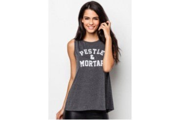 Pestle & Mortar Ladies Athletic Muscle Tee