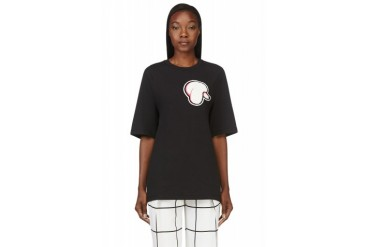 3.1 Phillip Lim Black Poodle Patch Oversize T shirt