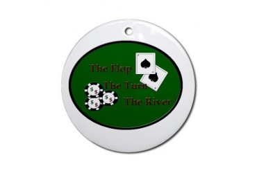 "Poker ""The Flop"" Round Ornament"