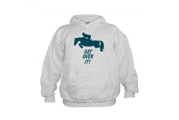 Get Over It. Hunter Jumper Kids Hoodie