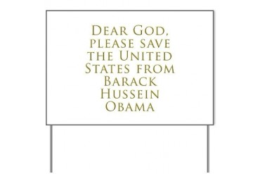 Save Us Anti obama Yard Sign by CafePress