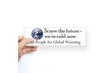Old People for Global Warming Bumper Sticker