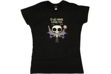 Roman Dirge Lenore, the Cute Little Dead Girl Evil Needs Candy Too Baby Doll Tee