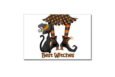 Best Witches Black Cat Cat Postcards Package of 8 by CafePress