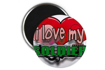 I LOVE MY SOLDIER Army Magnet by CafePress