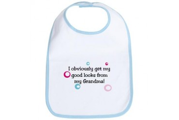 I get my looks from Grandma Baby Baby Bib by CafePress