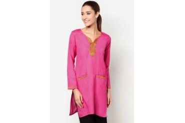 HiDY Essence Kutri With Tribal Pattern Yoke and Pocket