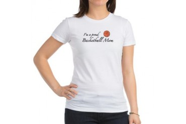 I'm a Proud Basketball Mom Sports Jr. Jersey T-Shirt by CafePress