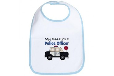 My Daddy's A Police Officer Baby Baby Bib by CafePress