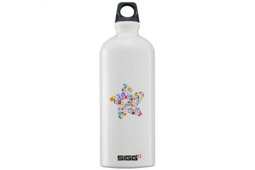 White Star Flower Rainbow Sigg Water Bottle 1.0L by CafePress