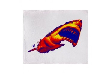 SHARK Stadium Blanket Humor Throw Blanket by CafePress