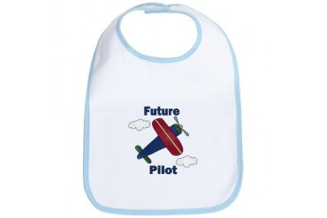 Future Pilot Baby Bib by CafePress