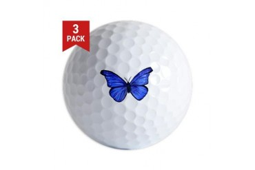 Blue Butterfly.tif Nature Golf Balls by CafePress