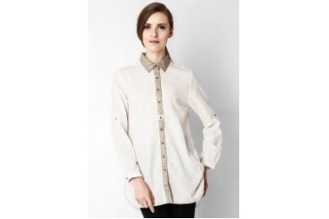 Triset Ladies Long Sleeve Shirt Cream
