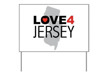 Love 4 Jersey New york Yard Sign by CafePress