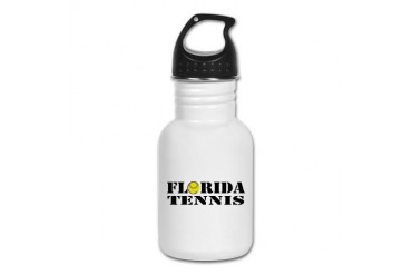 Florida Tennis.png Tennis Kid's Water Bottle by CafePress