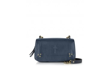 Bobi Tejus Navy Leather Crossbody Bag