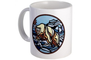 Polar Bear Art Coffee Wildlife Painting Cool Mug by CafePress
