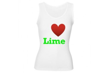 i-love-lime-dark-tee.png Humor Women's Tank Top by CafePress