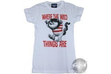 Where the Wild Things Are Stripes Baby Doll Tee by JUNK FOOD