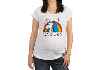 Unicorn Horse Maternity T-Shirt by CafePress