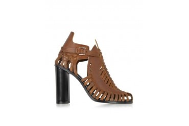 Brown Woven Leather Sandal